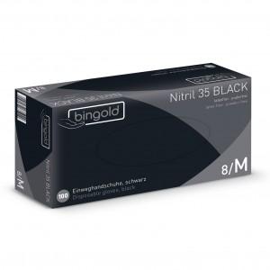 Nitrilne rokavice 100 kom, vel.: M, črne - RAZPRODANO